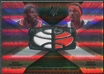 2008/09 Upper Deck SPx Winning Materials Combos #WMCRW Jason Richardson Gerald Wallace