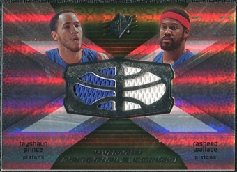 2008/09 Upper Deck SPx Winning Materials Combos #WMCWP Tayshaun Prince Rasheed Wallace