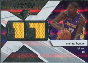 2008/09 Upper Deck SPx Winning Materials #WMJAB Andrew Bynum