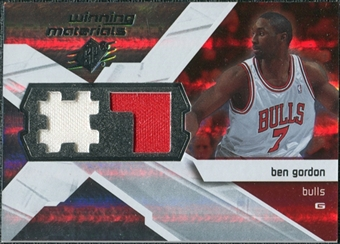 2008/09 Upper Deck SPx Winning Materials #WMJBG Ben Gordon