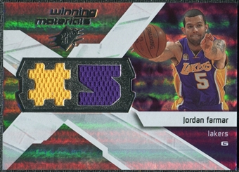 2008/09 Upper Deck SPx Winning Materials #WMJJF Jordan Farmar