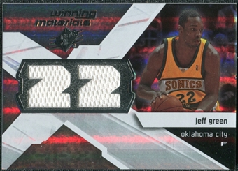 2008/09 Upper Deck SPx Winning Materials #WMJJG Jeff Green