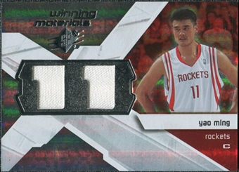 2008/09 Upper Deck SPx Winning Materials #WMJYM Yao Ming