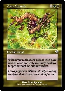 Magic the Gathering Invasion Single Aura Shards UNPLAYED (NM/MT)
