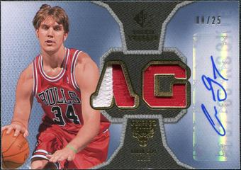 2007/08 Upper Deck SP Rookie Threads Patch Autographs #RTAG Aaron Gray /25