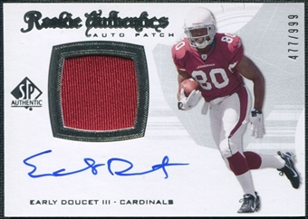 2008 Upper Deck SP Authentic #291 Early Doucet III Rookie Patch Auto /999