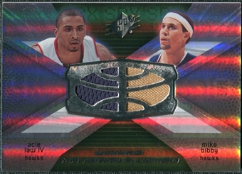 2008/09 Upper Deck SPx Winning Materials Combos #WMCBL Acie Law IV Mike Bibby