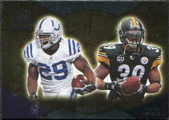 2009 Upper Deck Icons NFL Reflections Silver #RFAP Joseph Addai Willie Parker /450