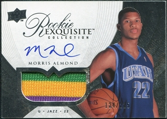 2007/08 Upper Deck Exquisite Collection #62 Morris Almond Rookie Patch Autograph /225
