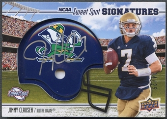 2010 Sweet Spot #105B Jimmy Clausen Rookie Helmet Auto #04/25