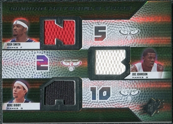 2008/09 Upper Deck SPx Winning Materials Trios #WMTBJS Josh Smith Joe Johnson Mike Bibby