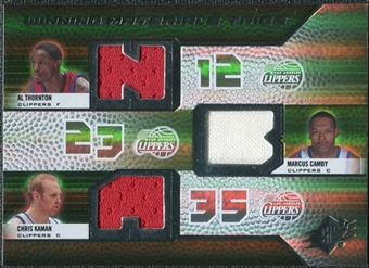2008/09 Upper Deck SPx Winning Materials Trios #WMTCKT Al Thornton Marcus Camby Chris Kaman