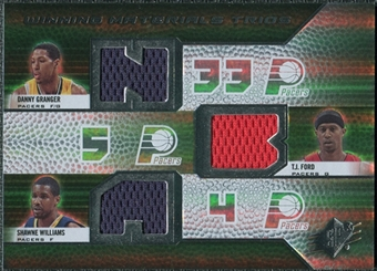 2008/09 Upper Deck SPx Winning Materials Trios #WMTGTW Danny Granger T.J. Ford Shawne Williams