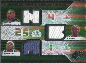 2008/09 Upper Deck SPx Winning Materials Trios #WMTJMF Randy Foye Al Jefferson Rashad McCants