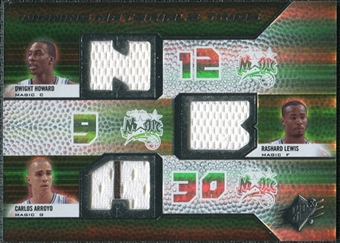 2008/09 Upper Deck SPx Winning Materials Trios #WMTLAH Dwight Howard Rashard Lewis Carlos Arroyo