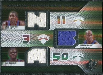 2008/09 Upper Deck SPx Winning Materials Trios #WMTMRC Jamal Crawford Stephon Marbury Zach Randolph