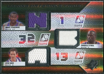 2008/09 Upper Deck SPx Winning Materials Trios #WMTNSO Amare Stoudemire Shaquille O'Neal Steve Nash