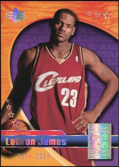 2004 Upper Deck All-Star Game #LJ1 LeBron James 544/2004