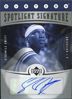 2006/07 Upper Deck Ovation Spotlight Signature #SS Stromile Swift Autograph