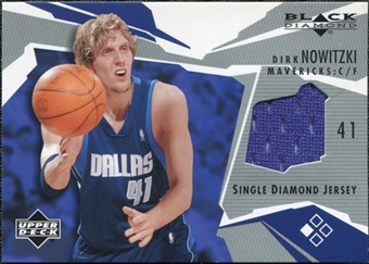 2003/04 Upper Deck Black Diamond Jerseys #BDDN Dirk Nowitzki