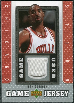 2007/08 Upper Deck UD Game Jersey #BG Ben Gordon