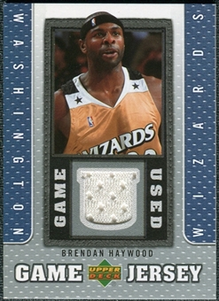2007/08 Upper Deck UD Game Jersey #BH Brendan Haywood