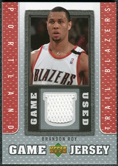 2007/08 Upper Deck UD Game Jersey #BR Brandon Roy