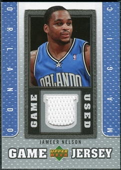 2007/08 Upper Deck UD Game Jersey #JN Jameer Nelson