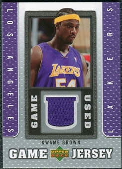 2007/08 Upper Deck UD Game Jersey #KW Kwame Brown