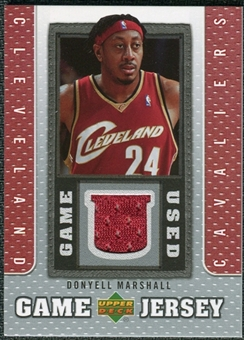 2007/08 Upper Deck UD Game Jersey #MA Donyell Marshall