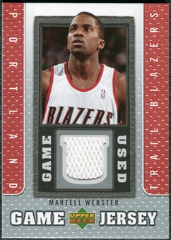 2007/08 Upper Deck UD Game Jersey #MW Martell Webster
