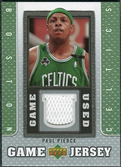 2007/08 Upper Deck UD Game Jersey #PP Paul Pierce