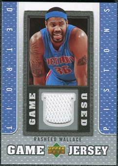 2007/08 Upper Deck UD Game Jersey #RW Rasheed Wallace
