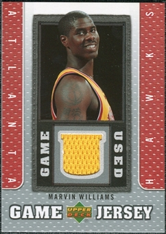 2007/08 Upper Deck UD Game Jersey #WI Marvin Williams