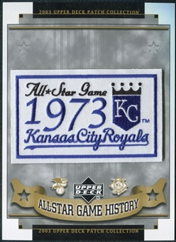 2003 Upper Deck UD Patch Collection All-Star Game Patches #44 Kansas City Royals 1973