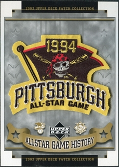 2003 Upper Deck UD Patch Collection All-Star Game Patches #65 Pittsburgh Pirates 1994