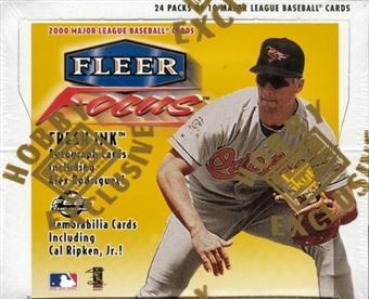 2000 Fleer Focus Baseball Hobby Box