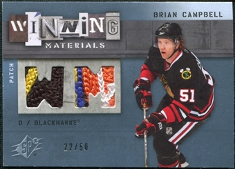 2009/10 Upper Deck SPx Winning Materials Spectrum Patches #WMBC Brian Campbell /50