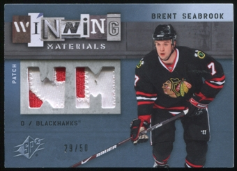 2009/10 Upper Deck SPx Winning Materials Spectrum Patches #WMBS Brent Seabrook 29/50