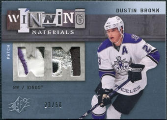 2009/10 Upper Deck SPx Winning Materials Spectrum Patches #WMDB Dustin Brown /50
