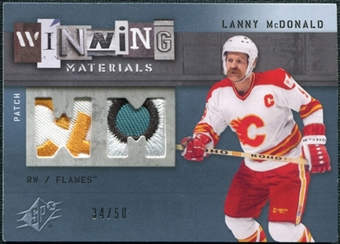 2009/10 Upper Deck SPx Winning Materials Spectrum Patches #WMLM Lanny McDonald /50