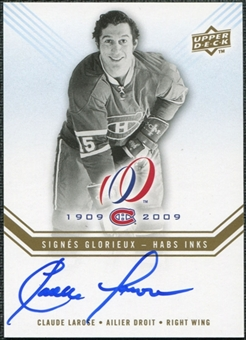 2008/09 Upper Deck Montreal Canadiens Centennial Habs INKS #HABSCL Claude Larose Autograph