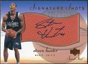 2001/02 Upper Deck Sweet Shot Signature Shots #HUS Steven Hunter Autograph