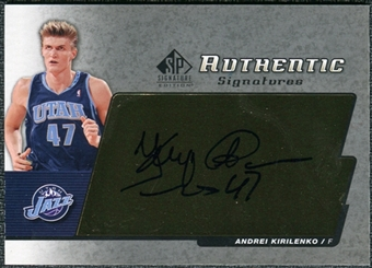 2004/05 Upper Deck SP Signature Edition Signatures #AK Andrei Kirilenko Autograph