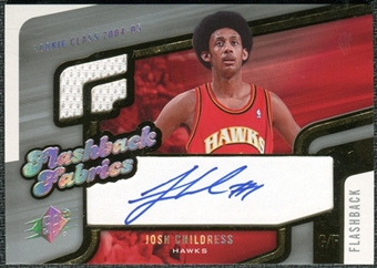2005/06 Upper Deck SPx Flashback Fabrics #JC Josh Childress Autograph