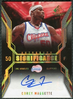 2007/08 Upper Deck SP Game Used SIGnificance #SICM Corey Maggette Autograph