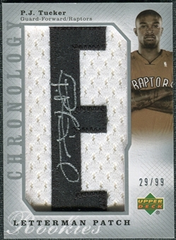 2006/07 Upper Deck Chronology #122 P.J. Tucker Jersey Autograph /99