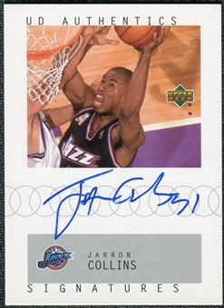 2002/03 Upper Deck UD Authentics Signatures #JA Jarron Collins Autograph
