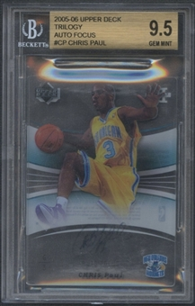 2005/06 Upper Deck Trilogy #CP Chris Paul Auto Focus Auto BGS 9.5 (GEM MINT)