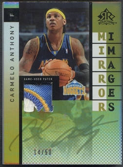 2006/07 Reflections #JA LeBron James & Carmelo Anthony Mirror Image Dual Patch #14/50
